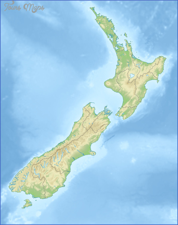new zealand relief map New Zealand Map