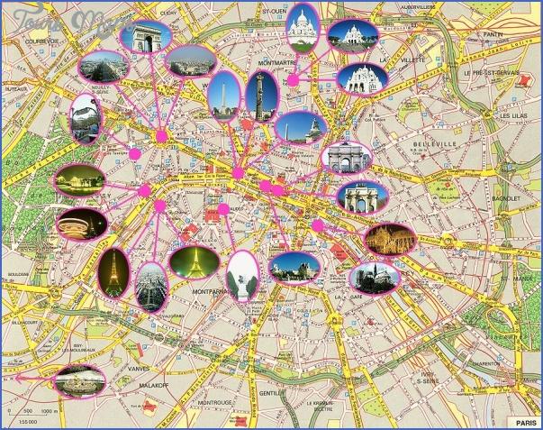 paris france tourist map 3 France Map Tourist Attractions