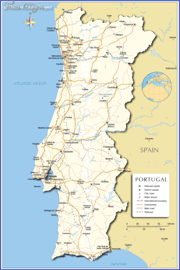 portugal political map Portugal Map