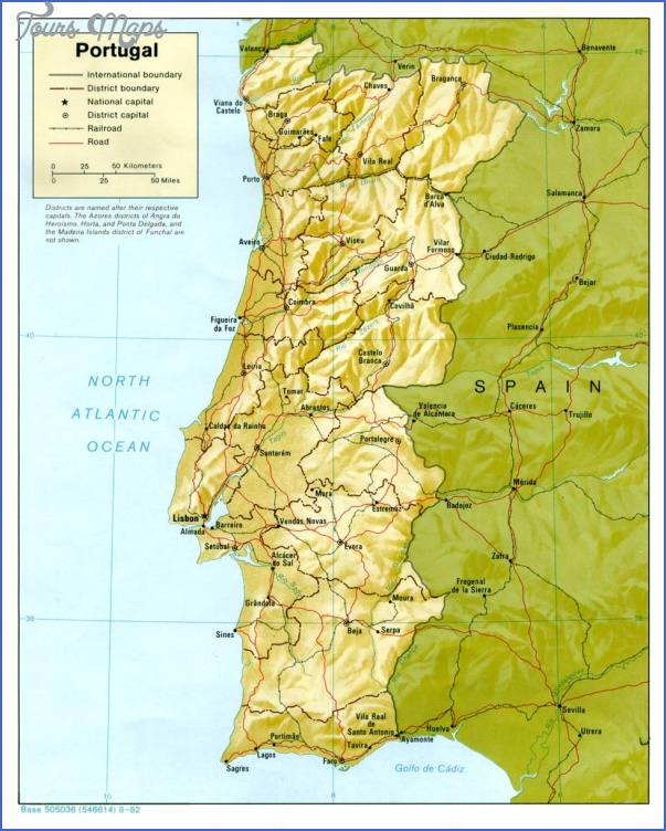 portugal rel82 Portugal Map
