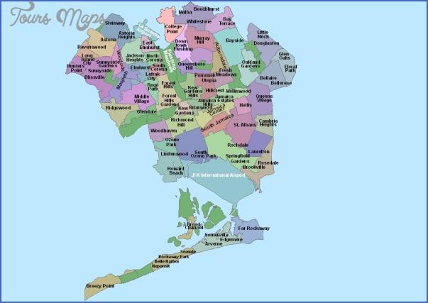 queens new york map neighborhood  toursmaps