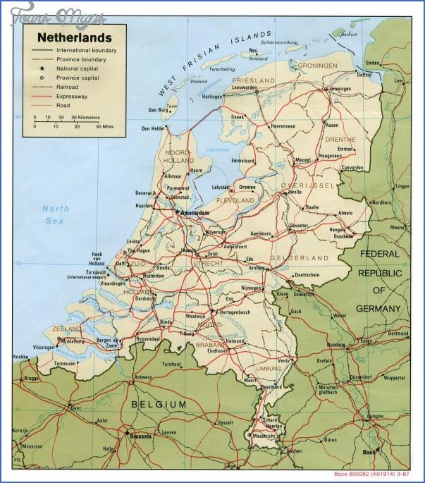 road map of netherlands THE NETHERLANDS