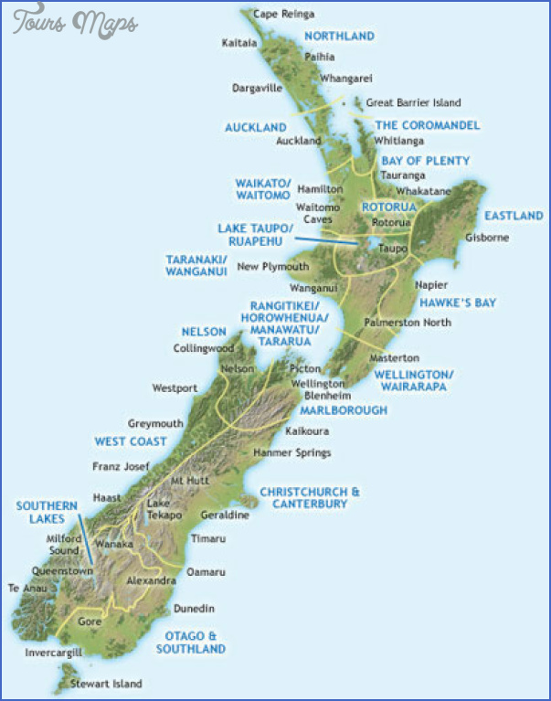 search new zealand regions New Zealand Map