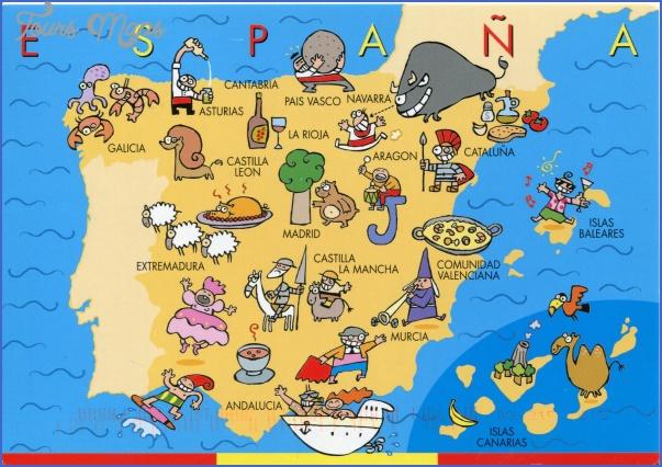 spain map 1 Spain Map
