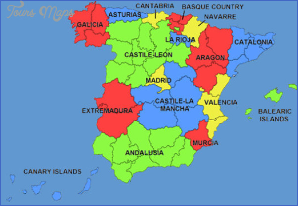spain map 2 Spain Map Tourist Attractions