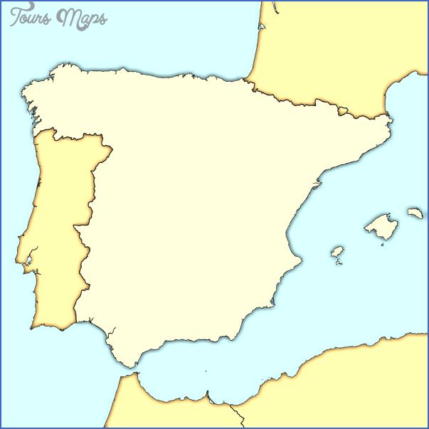 spain map modern Spain Map
