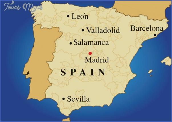 Map Of Spain Valladolid.Spain Map Toursmaps Com