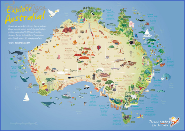 terkep map ausztralia tourism australia image Australia Map Tourist Attractions