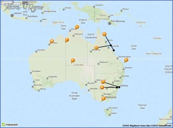 tourist attractions in australia map Australia Map Tourist Attractions