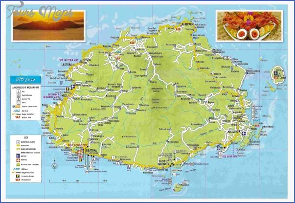 viti levu fiji tourist map Fiji Map
