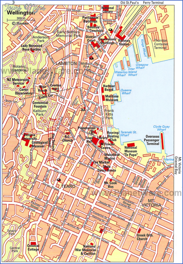 wellington map New Zealand Map Tourist Attractions