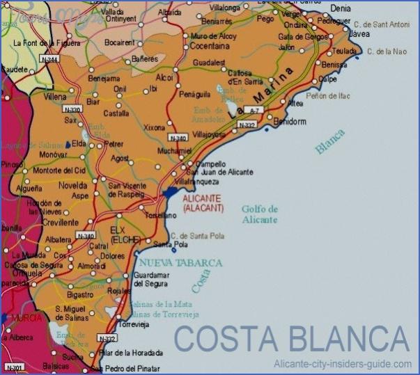 alicante map 18 ALICANTE MAP