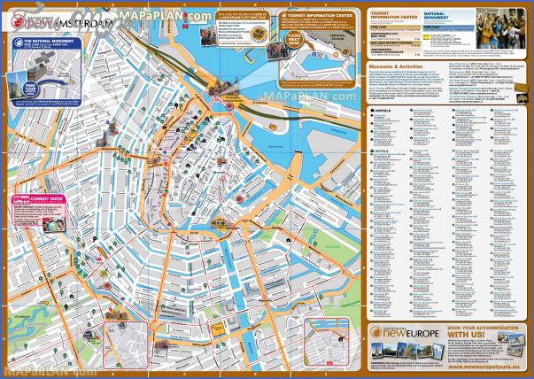 amsterdam map tourist attractions 3 Amsterdam Map Tourist Attractions
