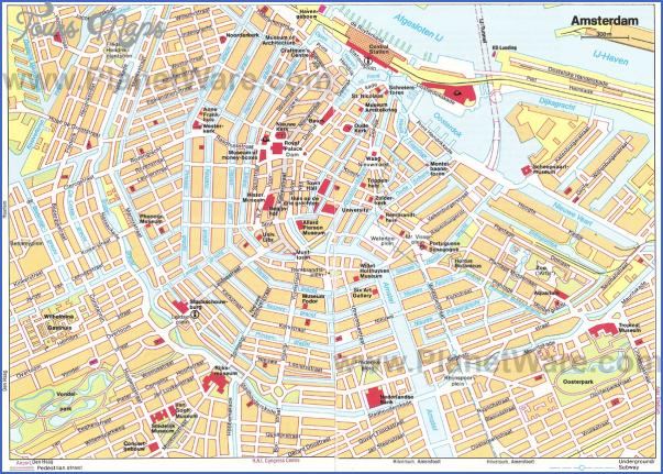 amsterdam map tourist attractions 4 Amsterdam Map Tourist Attractions