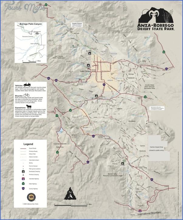 anza borrego desert state park map california 10 ANZA BORREGO DESERT STATE PARK MAP CALIFORNIA