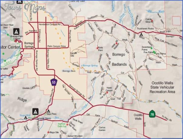 anza borrego desert state park map california 7 ANZA BORREGO DESERT STATE PARK MAP CALIFORNIA