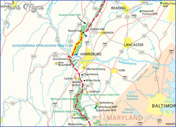 appalachian trail map pennsylvania 1 APPALACHIAN TRAIL MAP PENNSYLVANIA