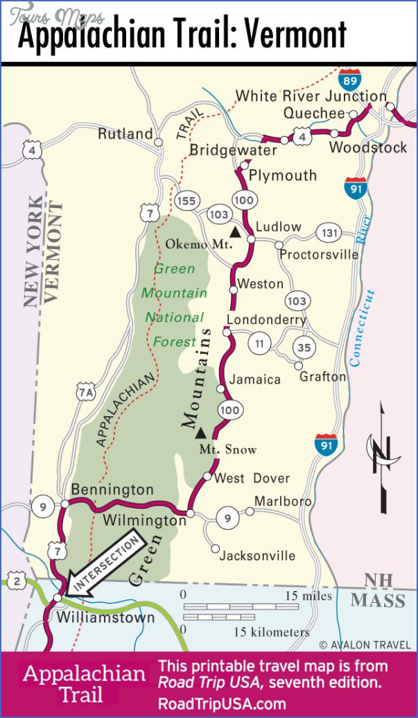 appalachian trail map vermont 0 APPALACHIAN TRAIL MAP VERMONT