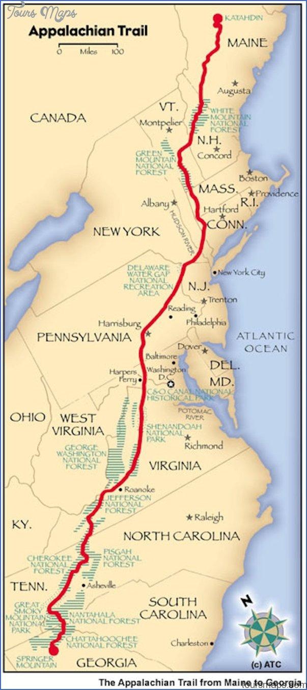 Appalachian Trail Map Vermont Toursmaps Com