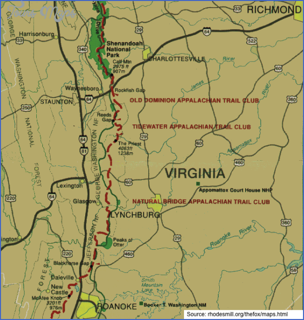 appalachian trail map virginia 6 APPALACHIAN TRAIL MAP VIRGINIA