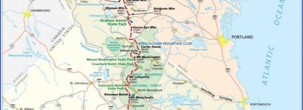 appalachian trail mileage map Archives - ToursMaps.com ®
