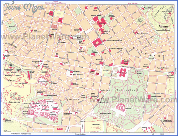 athens map tourist attractions 0 Athens Map Tourist Attractions