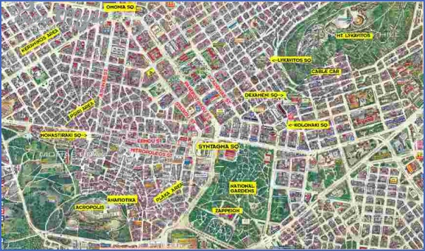 athens map tourist attractions 2 Athens Map Tourist Attractions