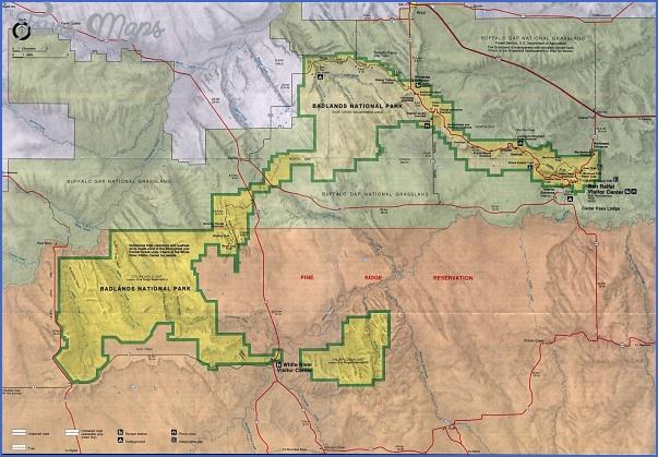 badlands national park map south dakota 0 BADLANDS NATIONAL PARK MAP SOUTH DAKOTA