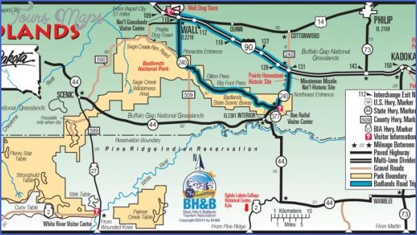 badlands national park map south dakota 5 BADLANDS NATIONAL PARK MAP SOUTH DAKOTA