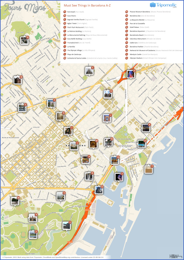 barcelona map tourist attractions 0 Barcelona Map Tourist Attractions