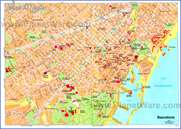 barcelona map tourist attractions 2 Barcelona Map Tourist Attractions