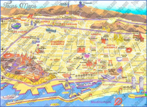 barcelona map tourist attractions 3 Barcelona Map Tourist Attractions