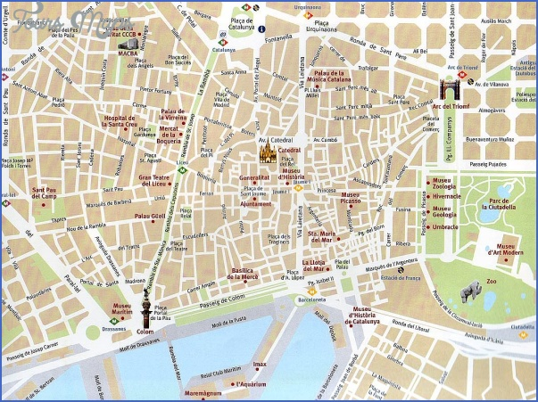 barcelona map tourist attractions 4 Barcelona Map Tourist Attractions