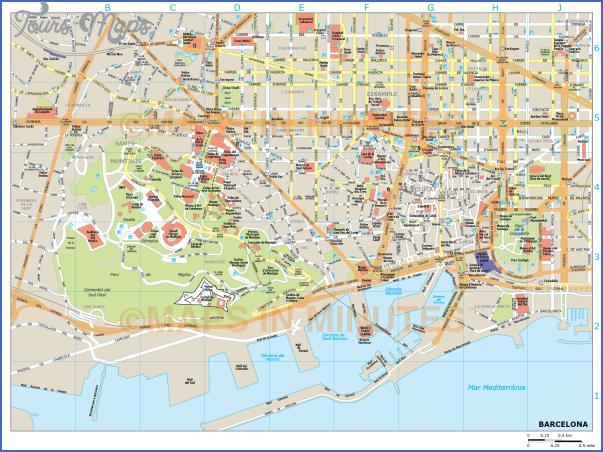 barcelona map 2 Barcelona Map