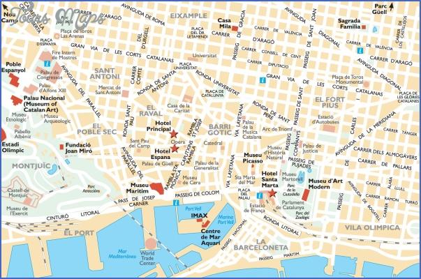 barcelona map 4 Barcelona Map