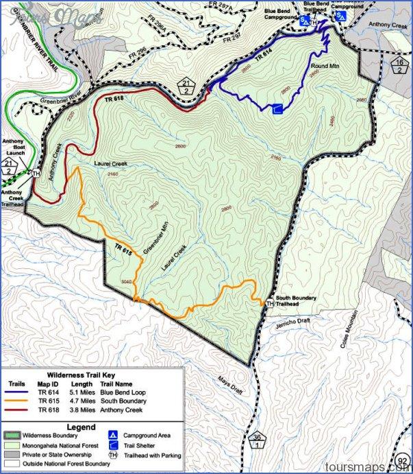 big blue trail map west virginia 5 BIG BLUE TRAIL MAP WEST VIRGINIA