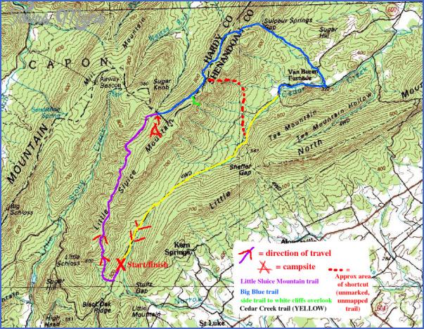big blue trail map west virginia 6 BIG BLUE TRAIL MAP WEST VIRGINIA
