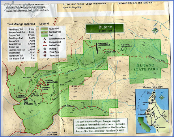 butano state park map california 7 BUTANO STATE PARK MAP CALIFORNIA