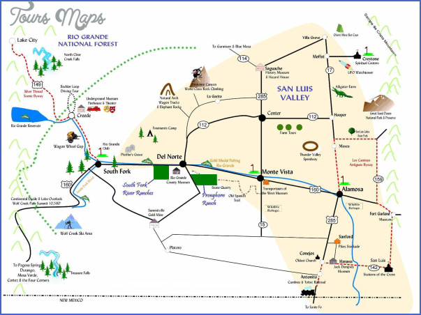 Colorado Map Tourist Attractions ToursMapsCom – Tourist Attractions Map In Colorado