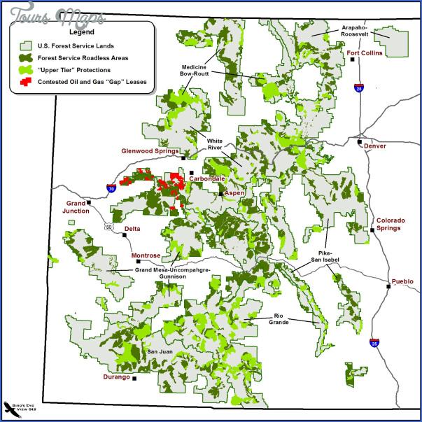 Colorado State Forest Map Colorado Toursmaps Com