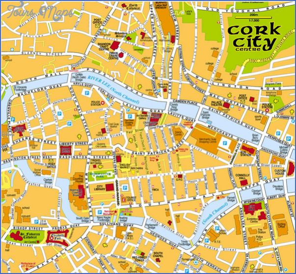 cork map tourist attractions 1 Cork Map Tourist Attractions