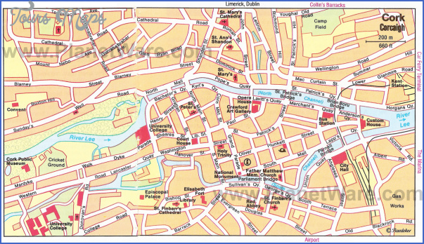 cork map tourist attractions 15 Cork Map Tourist Attractions