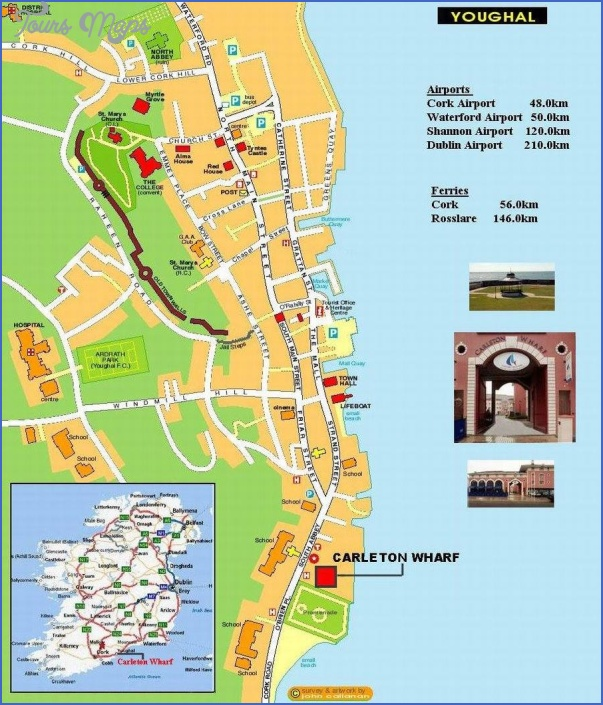 cork map tourist attractions 2 Cork Map Tourist Attractions