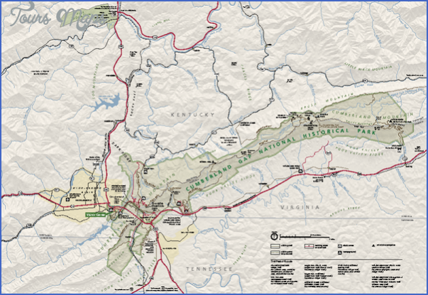 cumberland gap national historical park map virginia 0 CUMBERLAND GAP NATIONAL HISTORICAL PARK MAP VIRGINIA