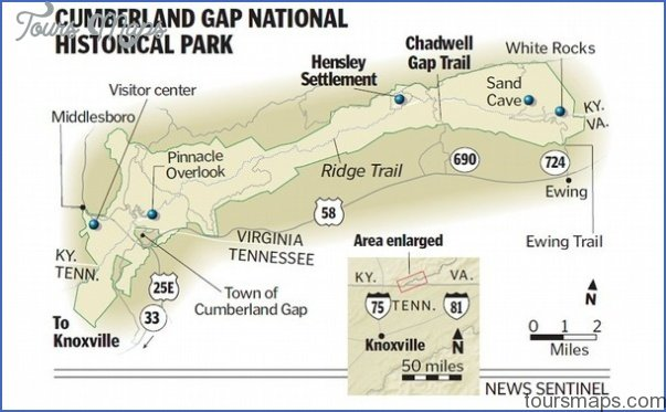 cumberland gap national historical park map virginia 11 CUMBERLAND GAP NATIONAL HISTORICAL PARK MAP VIRGINIA