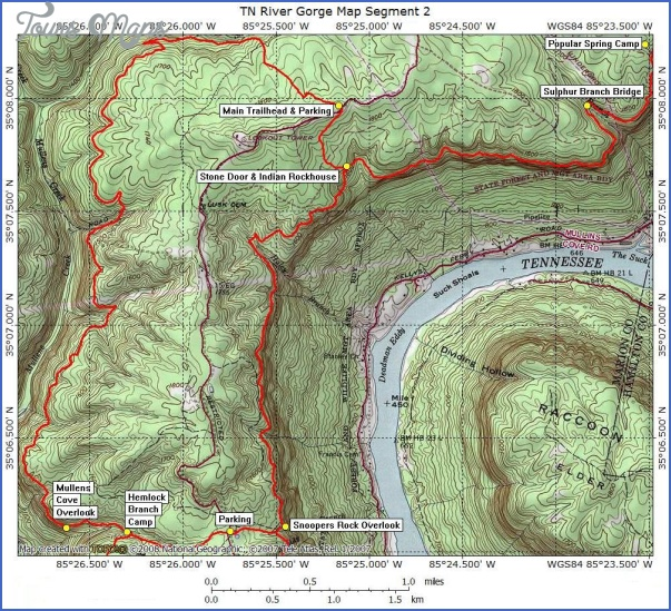 cumberland trail map tennessee 12 CUMBERLAND TRAIL MAP TENNESSEE