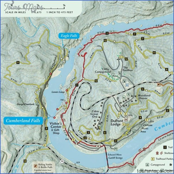 cumberland trail map tennessee 18 CUMBERLAND TRAIL MAP TENNESSEE