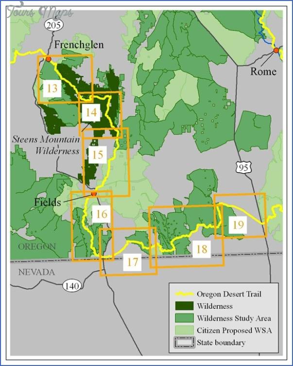 desert trail map oregon 5 DESERT TRAIL MAP OREGON