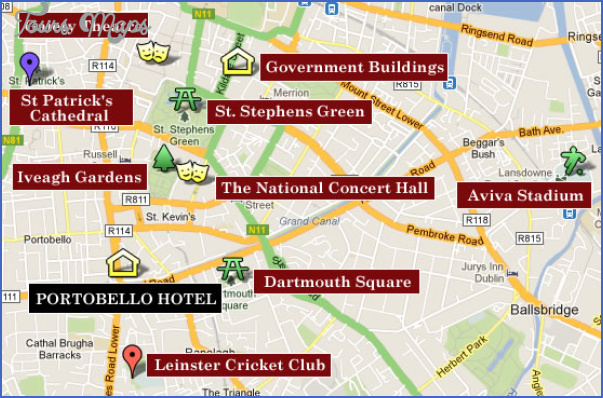Dublin Map Tourist Attractions ToursMapsCom – Tourist Map Dublin
