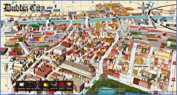 dublin map tourist attractions 2 Dublin Map Tourist Attractions